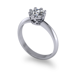 solitaire ring with filagree setting