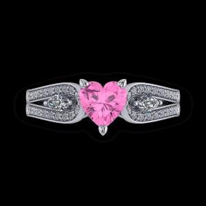 Split shank anniversary ring