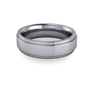 6mm band with stepped edges