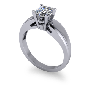 Chunky catherdral soltaire engagement ring