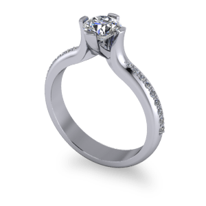 Elevated custom diamond ring