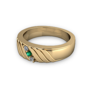 Yellow gold band with wrap detail