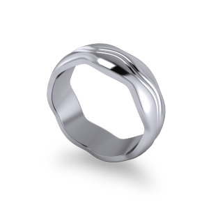 Wavy commitment ring