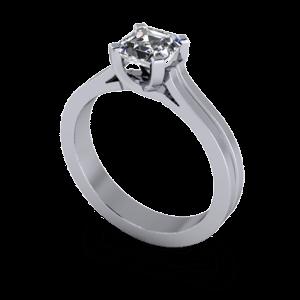 Ascher cut engagement ring