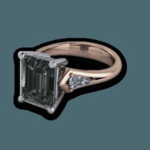 Rose gold, Emerald Cut, Diamond