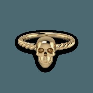 Skull, Yellow Gold, Rope,