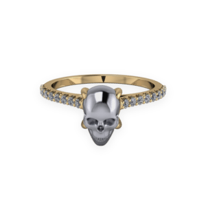 , Skull, Solitaire, Hematite, cathedral