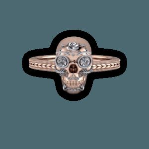 mixed metal, sugar skull, detail, milgrain, diamond