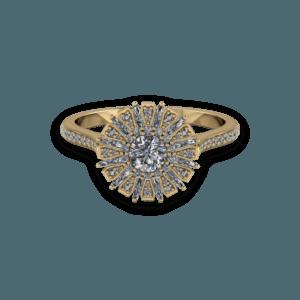 ballerina, vintage, diamond, yellow gold