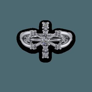 ,snowflake,ballerina ring,platinum,diamond shoulders