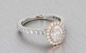 A Platinum Diamond Set Wedding Band With Tanzanite
