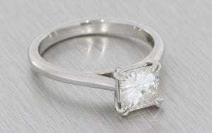 Classic square custom set Moissanite Engagement Ring – Portfolio