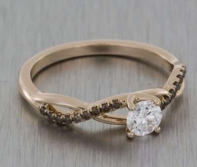 Get the Look: Twisted Band Engagement Rings